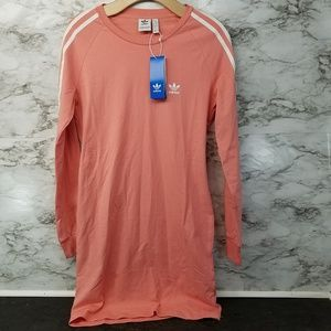 Adidas Womens Pink Longsleeve Dress Sz L New